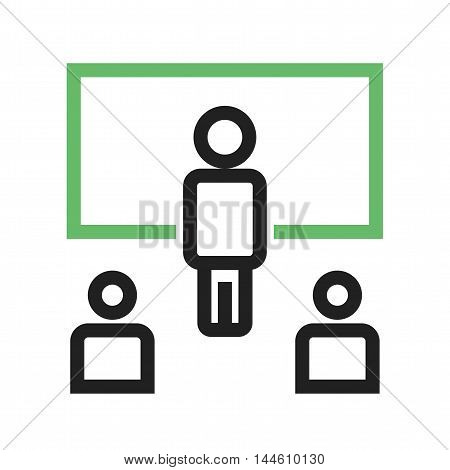 Online, computer, students icon vector image. Can also be used for E Learning. Suitable for mobile apps, web apps and print media.