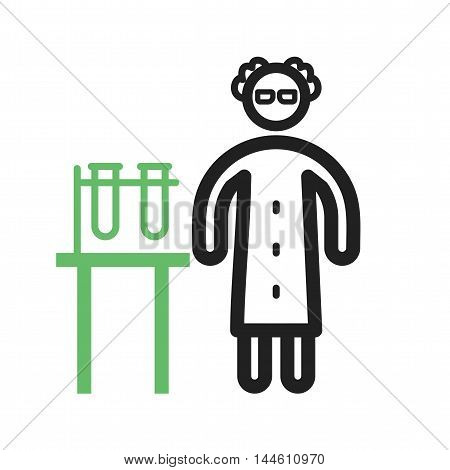 Lab, pharmacy, chemist icon vector image. Can also be used for people. Suitable for web apps, mobile apps and print media.