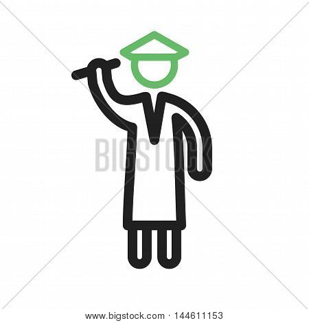 Graduate, students, university icon vector image. Can also be used for people. Suitable for use on web apps, mobile apps and print media.