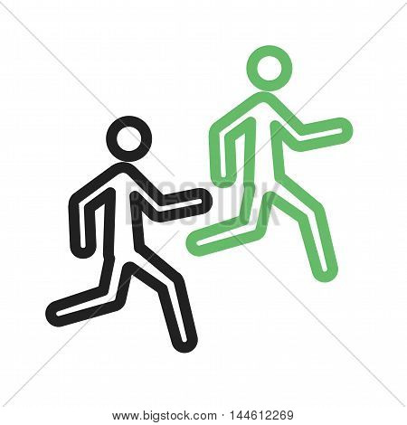 Running, race, marathon icon vector image. Can also be used for people. Suitable for use on web apps, mobile apps and print media.