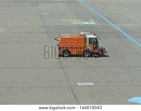 Street Cleaning Vehicle In Prague