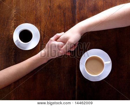 Concept of love and coffee