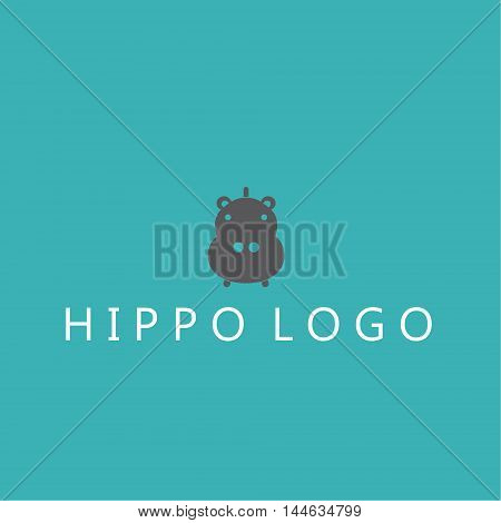 hippo logo  ideas design vector illustration on background