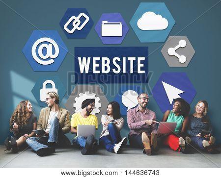 Website URL Connection Internet Concept