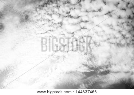Black And White Cloud An Blue Sky ,natural Background