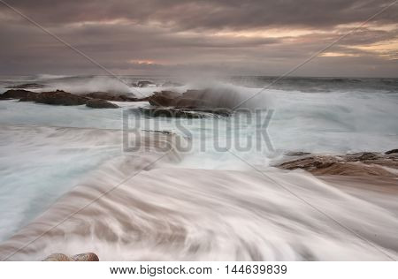 Sunrise And Ocean Overflows