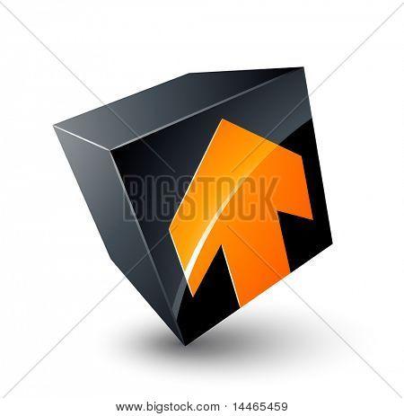 Cube and arrow design