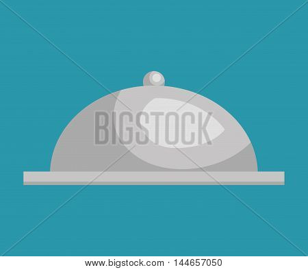 tray dish server silver icon vector illustration design