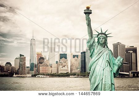 New York City And Liberty Statue