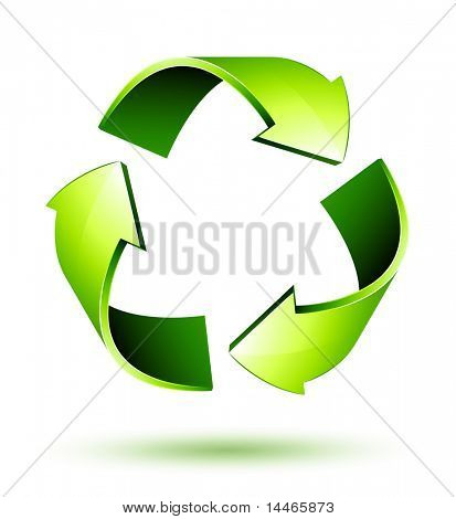 Recycle Arrows. Recycle symbol