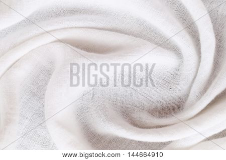 rippled white calico of surface fabric for the design background.