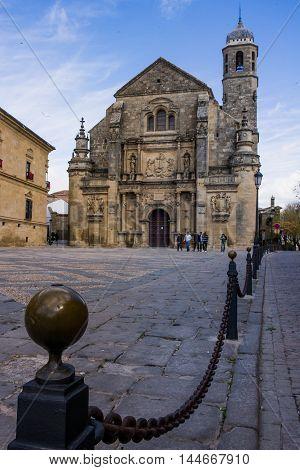 Ubeda Andalusia Spain Plaza de Vazquez Molina and Sacred Capilla de el Salvador