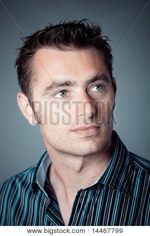 close up af a caucasian man