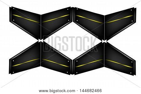 wall of quadrangles, dark quadrangle, vector illustration
