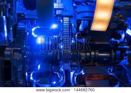Hybrid modern car engine of internal combustion