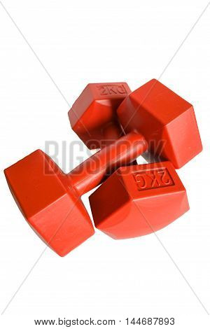 Isolated dumbell in white background with clipping path