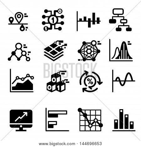 Business diagram and graph icons set Vector illustration graphic design