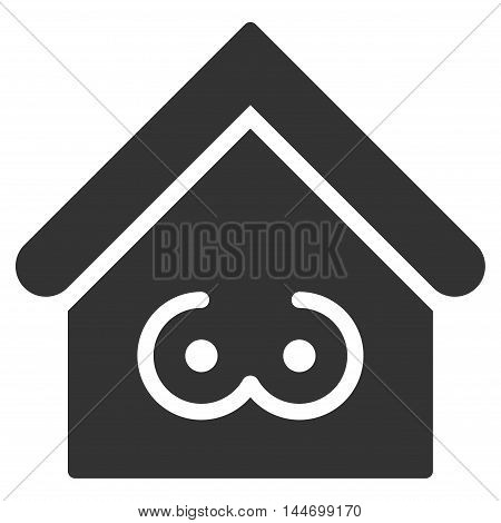 Strip Bar icon. Vector style is flat iconic symbol, gray color, white background.