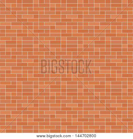 Simple seamless texture - brick stone wall. Vector illustration.