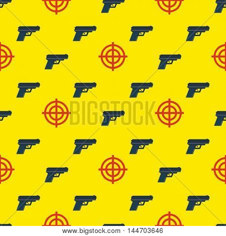 gun targets seamless pattern on yellow background