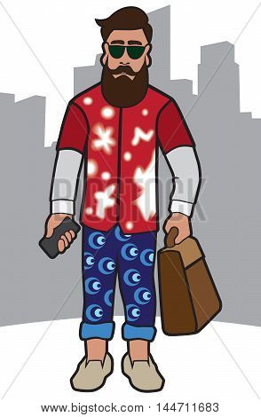 Modern guy with accessories ready to take on the town