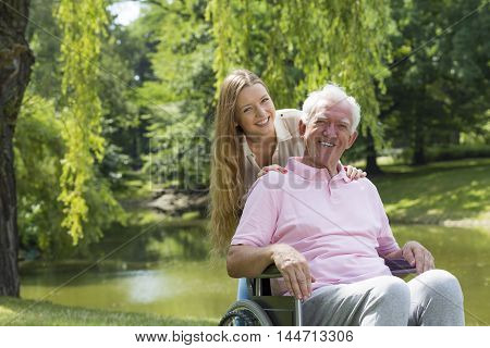 Special Bond Between Grandfather And Granddaughter