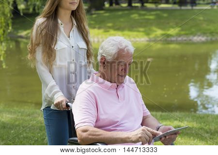 Senior Getting Along With Technology