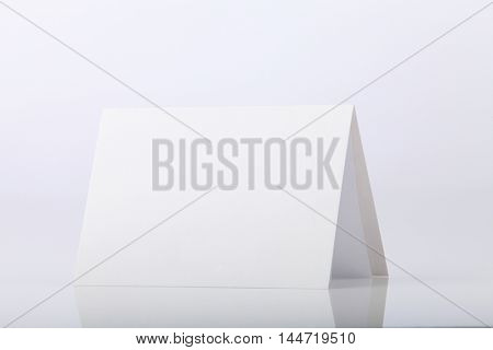 Blank greeting card on the white background