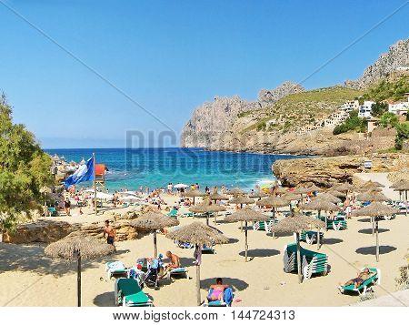 Cala Molins, Beach In Cala Sant Vicenc, Majorca