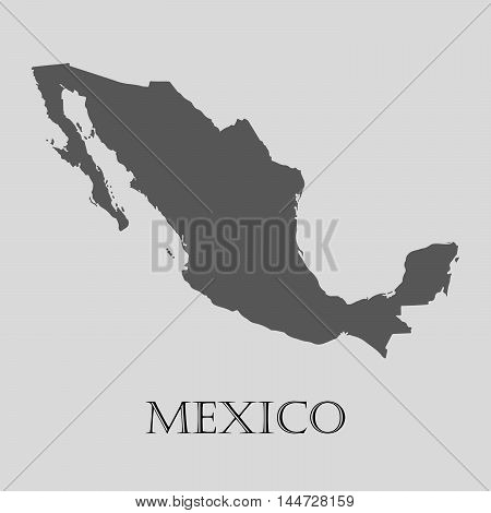 Gray Mexico map on light grey background. Gray Mexico map - vector illustration.