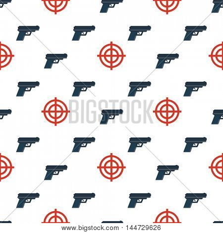 gun targets seamless pattern isolated on white background