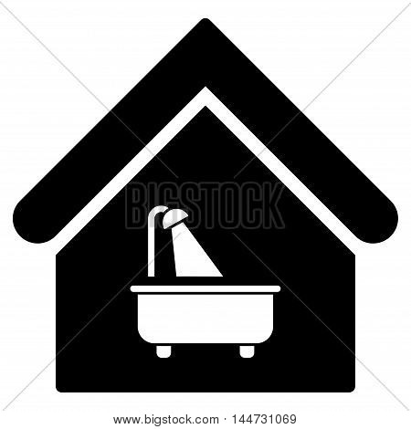 Bathroom icon. Glyph style is flat iconic symbol, black color, white background.
