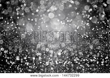 Abstract black glitter sparkle background for Halloween fright night