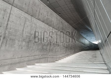 Seoul, South Korea - August 14, 2016: Stairscase At Dongdaemun Design Plaza Located In Seoul, Design