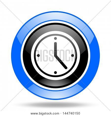 time round glossy blue and black web icon