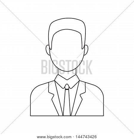 Businessman icon line. Single avatar, peopleicon from the big avatar line.