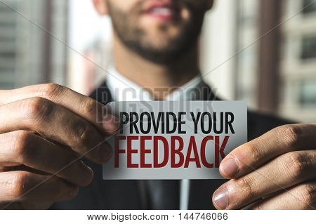 Provide Your Feedback