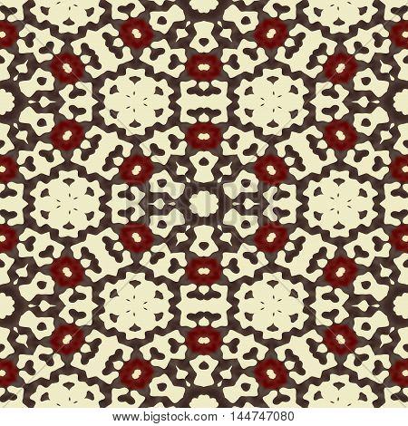 Trendy brown design seamless ethnic pattern design