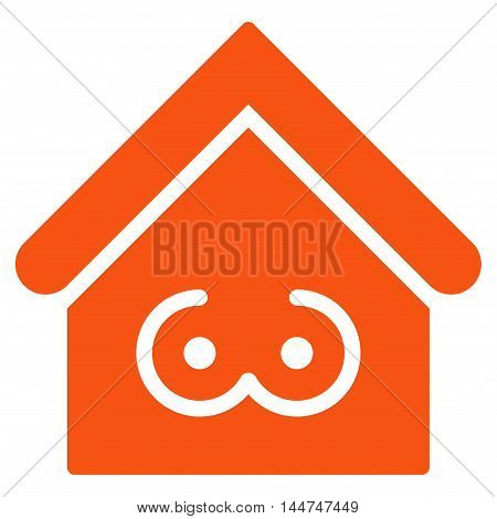 Strip Bar icon. Glyph style is flat iconic symbol, orange color, white background.