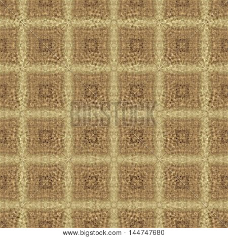 Symmetrical geometry beige rural seamless pattern design