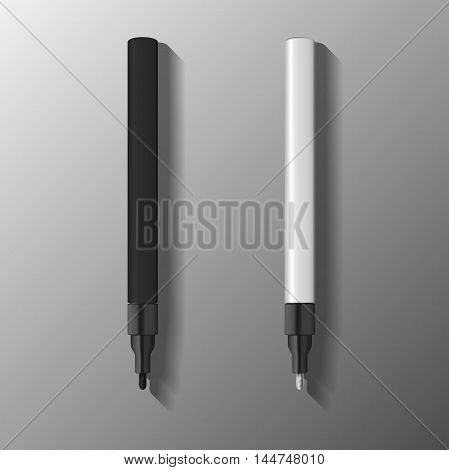 paint marker pen illustration. template of marker pen in black and white colors. vector illustration.