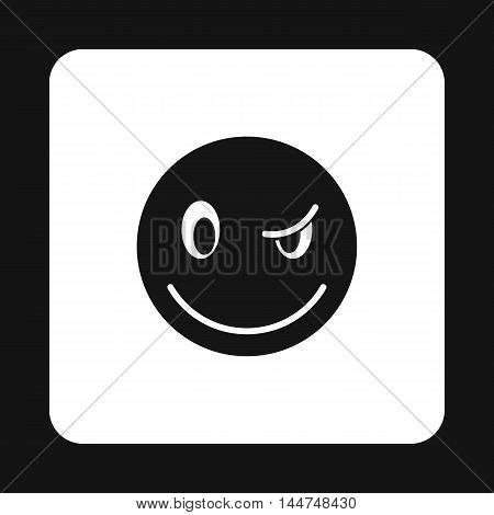 Eyewink suspicious emoticon icon in simple style isolated on white background