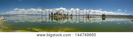Panoramic view over South Tufa of Mono Lake, California