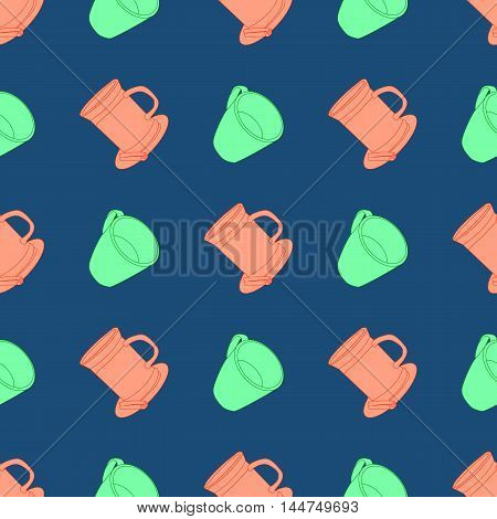 Seamless vectror pattern with colorful cups eps 10