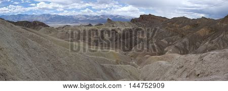 Panoramic view of Zabriksie Point in Death Valley, California
