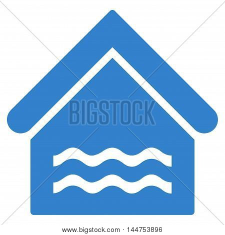 Water Pool icon. Vector style is flat iconic symbol, cobalt color, white background.
