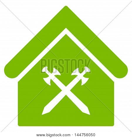 Guard Office icon. Vector style is flat iconic symbol, eco green color, white background.
