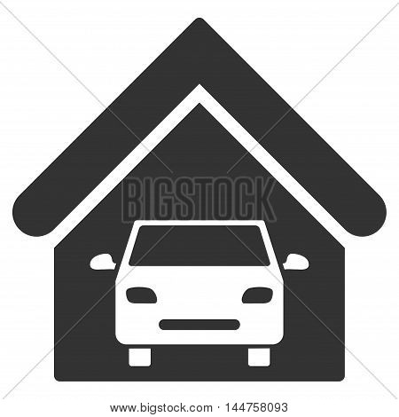Car Garage icon. Vector style is flat iconic symbol, gray color, white background.