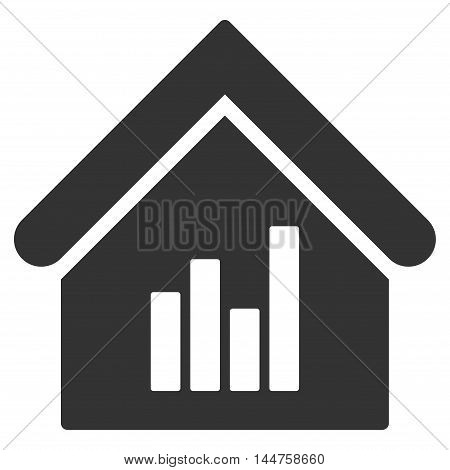 Realty Bar Chart icon. Vector style is flat iconic symbol, gray color, white background.