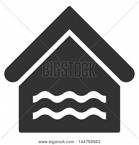 Water Pool icon. Vector style is flat iconic symbol, gray color, white background.